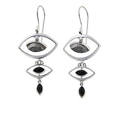 Traveler's Journey Black Agate and Onyx Earrings
