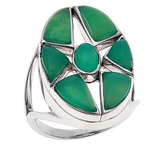 Traveler's Journey Chrysoprase Star Ring