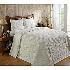 Trevor Collection 100% Cotton Tufted Chenille Bedspread Set - Full