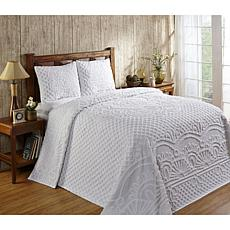 Trevor Collection 100% Cotton Tufted Chenille Bedspread Set - Queen