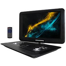 Trexonic 15.4 Inch Portable DVD Player with TFT-LCD Screen and USB/...