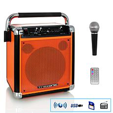 Trexonic Wireless Portable Party Speaker with USB Recording, FM Rad...