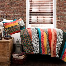 Triangle Home Fashions Boho Stripe Quilt 3-piece Set - Full/Queen