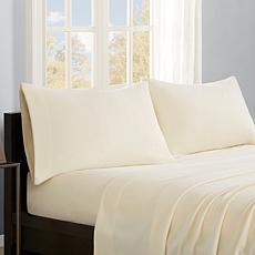 True North by Sleep Philosophy Micro Fleece Sheet Set - Ivory - Full