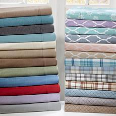 True North by Sleep Philosophy Micro Fleece Sheet Set - Khaki - Queen