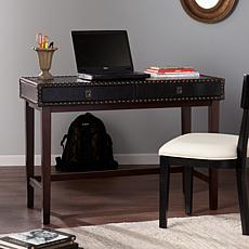 Turner Faux Leather Writing Desk - Black