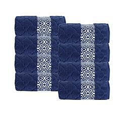 Turner Zero-Twist Turkish Cotton 4-piece Hand Towel Set
