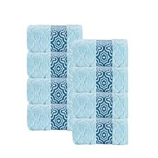 Turner Zero-Twist Turkish Cotton 8pc Wash Cloths Set