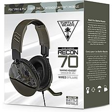 Turtle Beach Recon 70 Green Camo Multiplatform Gaming Headset