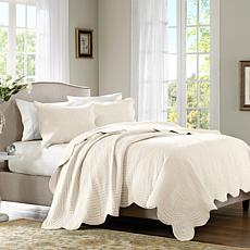 Tuscany Quilted Coverlet Set - Full/Queen/Ivory