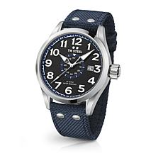 TW Steel Volante Men's 45mm Black Dial Blue Nylon Strap Watch
