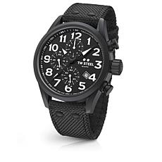 TW Steel Volante Men's Chronograph Matte Black Watch