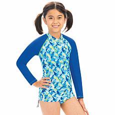 Uglies Girl's Printed Long-Sleeve Rash Guard Top