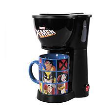 Uncanny Brands X-Men Single Cup Coffee Maker with Mug