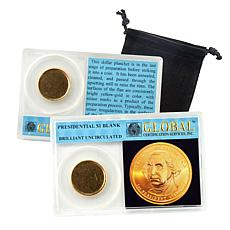 Uncirculated Presidential Dollar Blank Error Coin