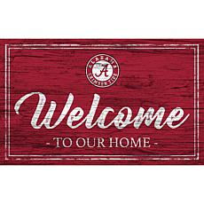 """University of Alabama Team Color Welcome Sign - 11x19"""""""