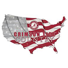 University of Alabama USA Shape Flag Cutout