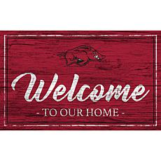 University of Arkansas Team Color Welcome Sign - 11x19""