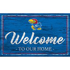 """University of Kansas Team Color Welcome Sign - 11x19"""""""