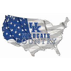 University of Kentucky USA Shape Flag Cutout
