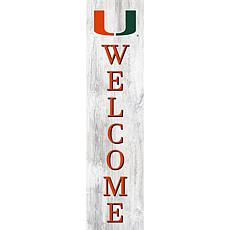 """University of Miami 48"""" Welcome Leaner"""