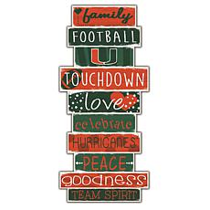 "University of Miami Celebrations Stack 24"" Sign"