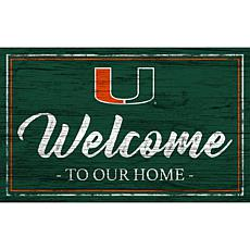 """University of Miami Team Color Welcome Sign - 11x19"""""""