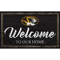"""University of Missouri Team Color Welcome Sign - 11x19"""""""