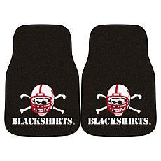 University of Nebraska Blackshirts Carpet Car Mat Set - 2 Pieces