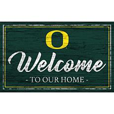 """University of Oregon Team Color Welcome Sign - 11x19"""""""