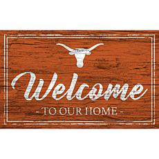 """University of Texas Team Color Welcome Sign - 11x19"""""""