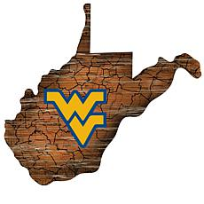 University of West Virginia Distressed State with Logo