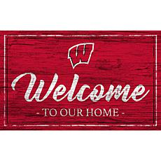 """University of Wisconsin Team Color Welcome Sign - 11x19"""""""