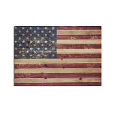 USA Flag 18x26 Print on Wood