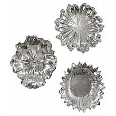 Uttermost Silver Flowers Wall Art Set of 3