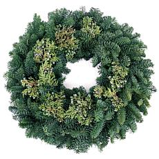 "Van Zyverden Fresh Cut 20"" Pacific Northwest Juniper Wreath"