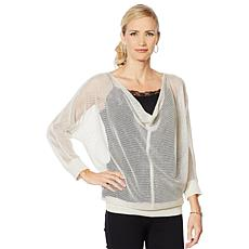 Vanessa Williams Easy Chic Mesh Stitch Top
