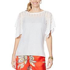 Vanessa Williams Illusion Drape Knit Kimono