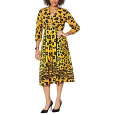 Vanessa Williams Printed V-Neck Maxi Dress