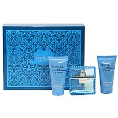 Versace Man Eau Fraiche 1.7oz Spray, 1.7 Aftershave, 1.7 ShowerGel Set