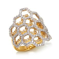 Victoria Wieck 1.1ctw Absolute™ Honeycomb 2-Tone Ring
