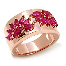 "Victoria Wieck 1.9ctw Absolute™ Created Ruby ""Fan"" Ring"