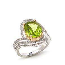Victoria Wieck 4.8ctw Peridot and White Topaz Ring