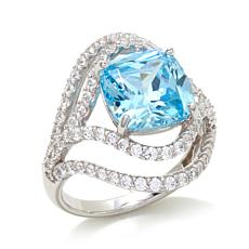 Victoria Wieck 6.7ctw Simulated Aquamarine Ring
