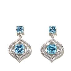 Victoria Wieck 8.32ctw Simulated Aquamarine Earrings