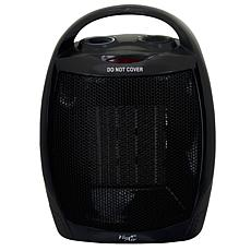 Vie Air 1500W Portable 2 Settings Black Ceramic Heater with Adjusta...