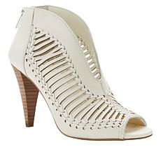Vince Camuto Acha Leather Peep-Toe Shootie