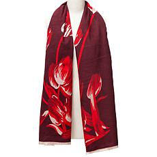 Vince Camuto Dance of Tulips Blanket Wrap