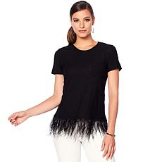Vince Camuto Feather Hem Pocket Tee