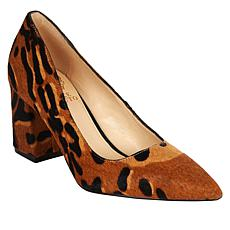 Vince Camuto Frittam Leopard Cow Hair Pointed-Toe Pump
